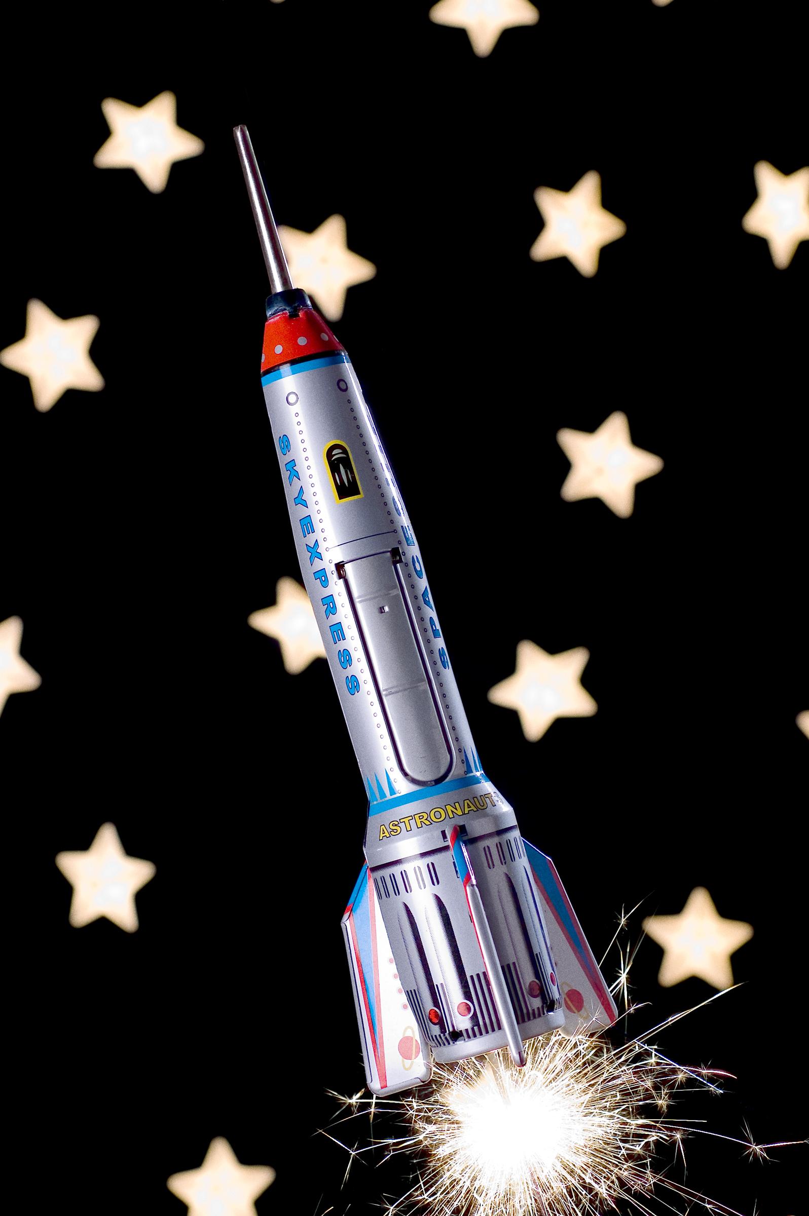 Tin Toy Rocket - Still Life Photography